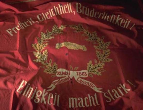 Traditionsfahne-SPD in Geselliger Abend zum 153en Parteigeburtstag am 23. Mai 2016